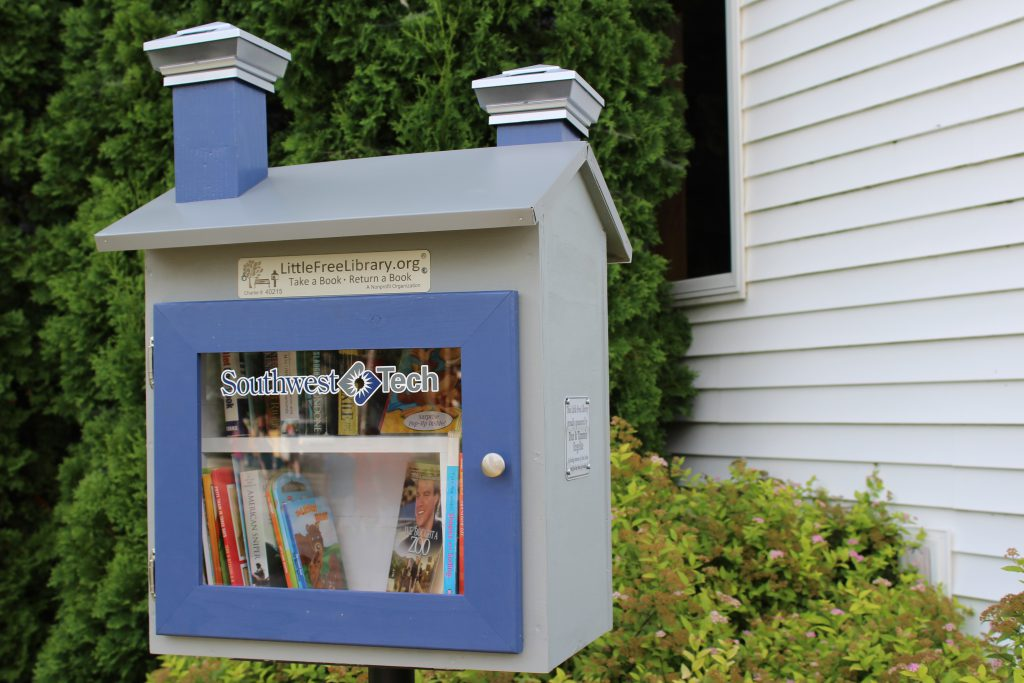One of 50 Southwest Tech Little Free Libraries